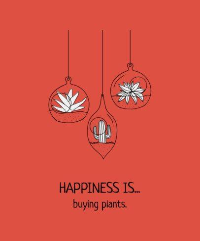 Tshirt Design Maker for a Plants Design 741c