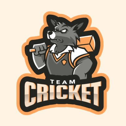 Cricket Logo Maker for a Cricket Team 1649a