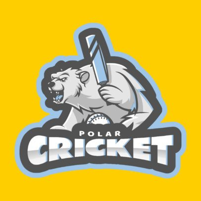 Cricket Logo Maker with Polar Bear Graphics 1649c