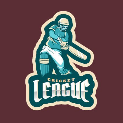 Cricket League Logo Maker 1649e