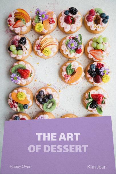 Book Cover Maker for a Dessert Recipe Book 907b