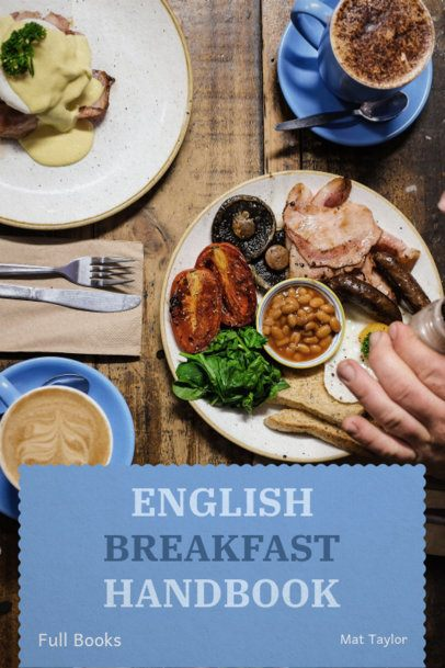 English Breakfast Book Cover Template 907d