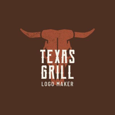 Texas Grill Logo Maker 1674b