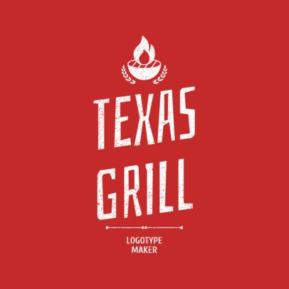 BBQ Logo Maker for a Texas Grill 1675a