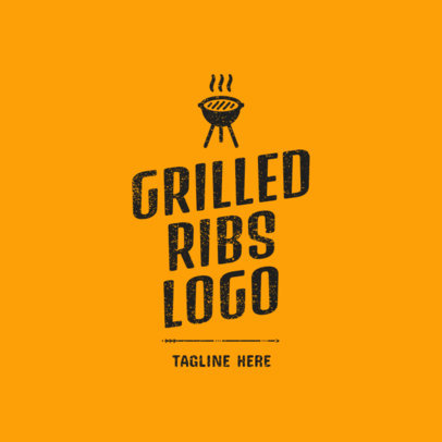 Logo Maker for a Grilled Ribs Restaurant 1675c