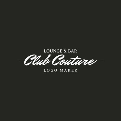 Logo Maker for a Bar and Lounge 1682