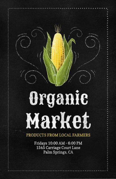 Online Flyer Template for an Organic Market 265c