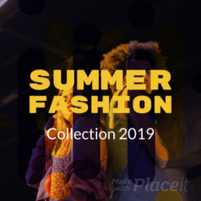 Instagram Video Maker for a Summer Fashion Promo Video 1041
