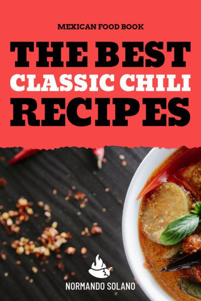 Chili Recipes Book Cover Maker 917b