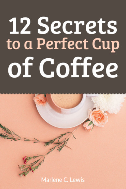 Recipe Book Cover Template for a Coffee Making Book 917c