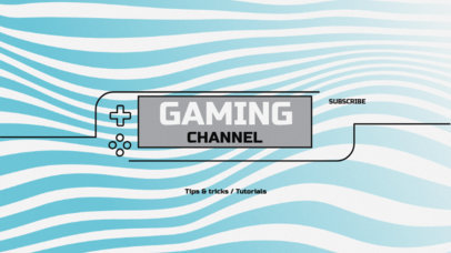 YouTube Banner Template for Gamers 50d