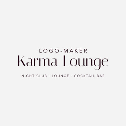 Logo Maker for a Fancy Night Club 1682e