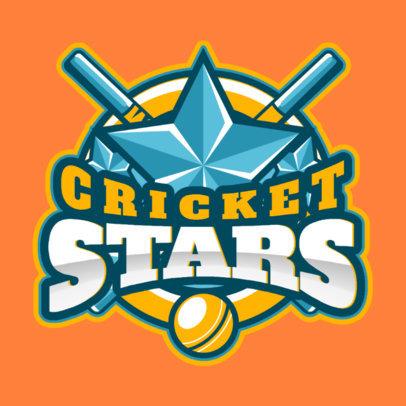 All-Star Cricket Team Logo Maker 1652c