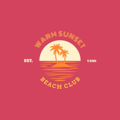 Beach Club Logo Maker 1758