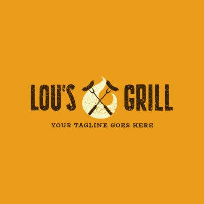 Restaurant Logo Maker for a Grill Restaurant 1676b