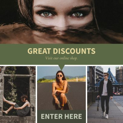 Modular Ad Banner Maker for a Discounts Offer 1053c