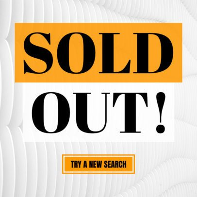 Ad Banner Maker for a Sold Out Sign 748f
