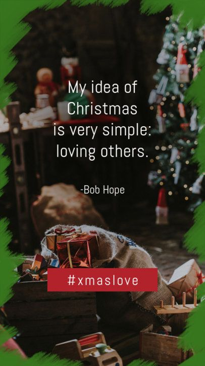 Instagram Story Maker for a Christmas Quote 995d