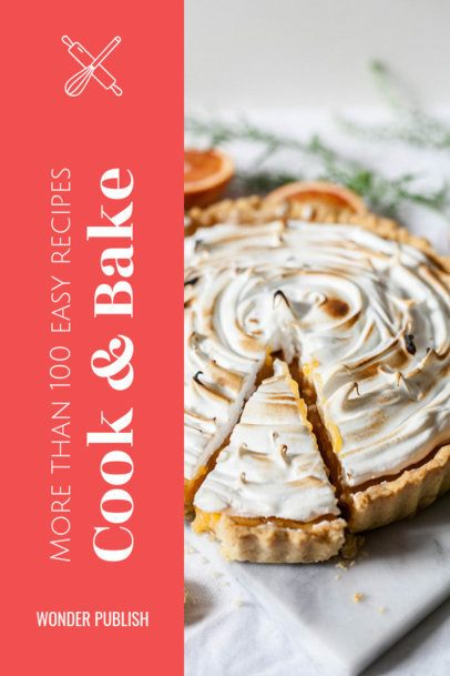 Book Cover Maker for a Baking Recipe Book 913c