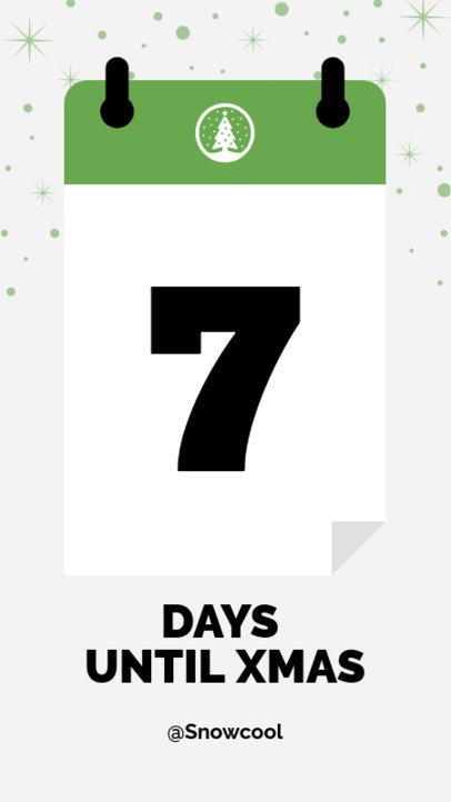 Instagram Story Template for a Cute Christmas Countdown 1000b