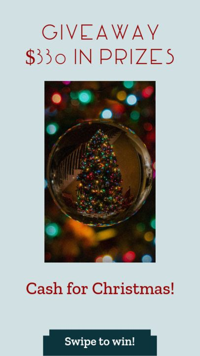 Christmas Giveaway Instagram Story Template 985d