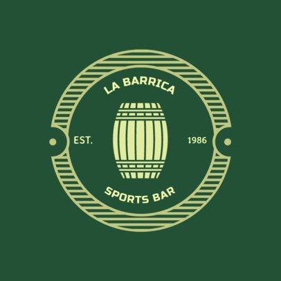 Sports Bar Logo Maker with a Circular Badge 1686e