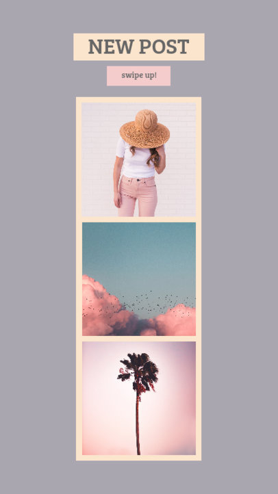 Instagram Story Template for a Three Picture Collage 944a