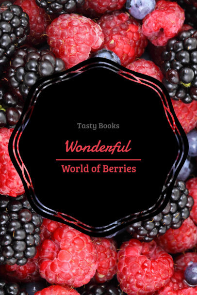 Book Cover Maker for a Berry Recipe Book 924a