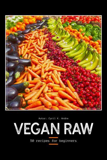 Vegan Raw Recipe Book Cover Template 912b