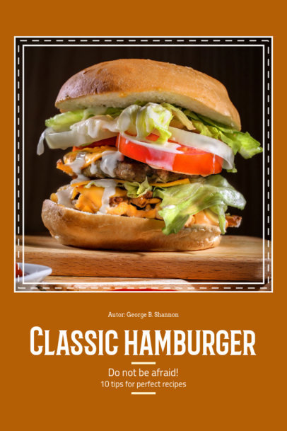 Hamburger Recipe Book Cover Template 912d