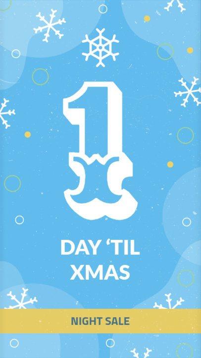 1 Day Til Christmas Instagram Story Maker 1001a-1819