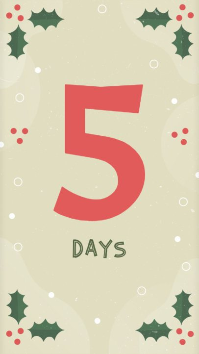 Holiday Countdown Instagram Story Template 1001c-1819