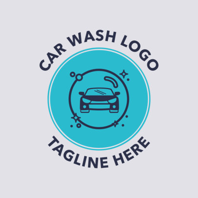 Car Wash Logo Maker with a Car Icon 1754