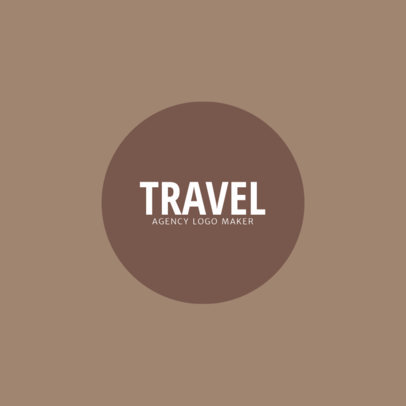 Minimalistic Travel Logo Maker for Awesome Travel Agency 1346b