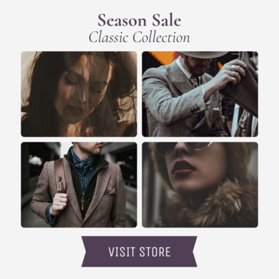 Season Sale Banner Maker with a Modular Layout 1057d