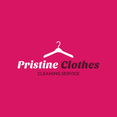 Dry Cleaning Service Logo Maker with Hanger Clipart 1775a
