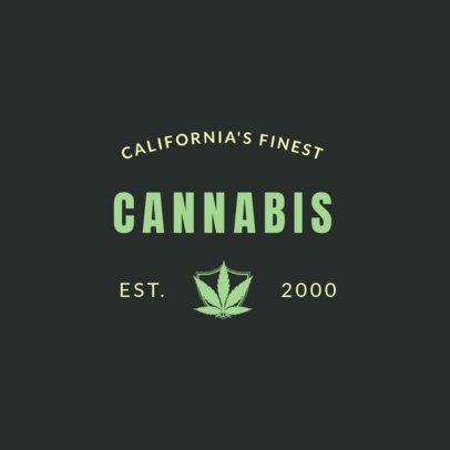 Cannabis Logo Maker for a Weed Company 1782a