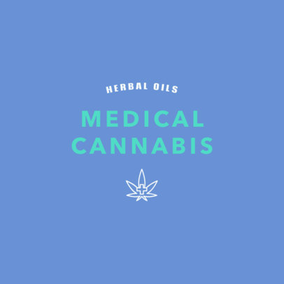 Medical Marijuana Logo Maker for a Medical Cannabis Company 1782e