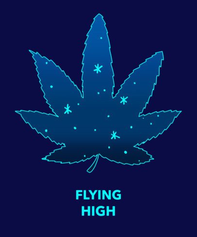 T-Shirt Design Maker with Space Cannabis Graphic 1060e