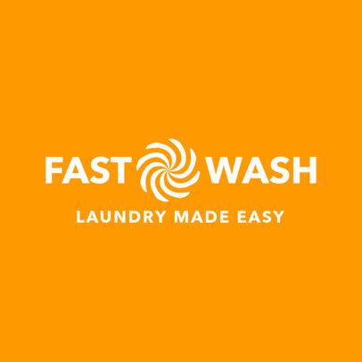Laundromat Logo Maker 1776c
