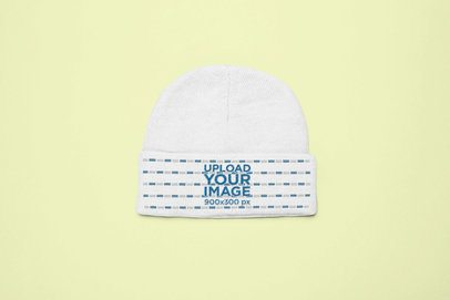 Short Cut Cuffed Beanie Mockup 24636
