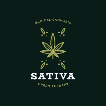 Marijuana Logo Maker with a Cannabis Sativa Graphic 1779c