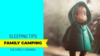 Cute Youtube Thumbnail Maker for a Family Camping Tips Video 896e