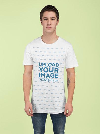 T-Shirt Mockup of a Man at a Studio 25281