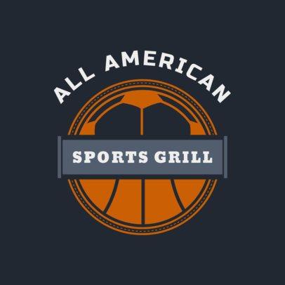 All American Sports Bar Logo Maker 1685d