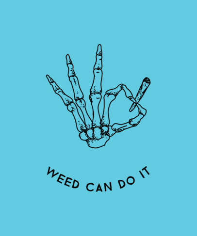 Weed T-Shirt Design Maker 1058e
