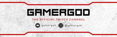 Banner Design Template for Twitch Users 596c