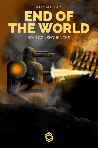 Apocalyptic Sci-Fi Book Cover Template  521d