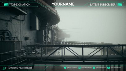 Twitch Overlay Template for an Action Gaming Twitch Account 1064