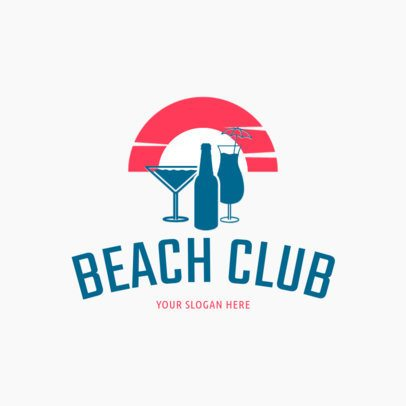 Bar Logo Template for Beach Clubs 1760c
